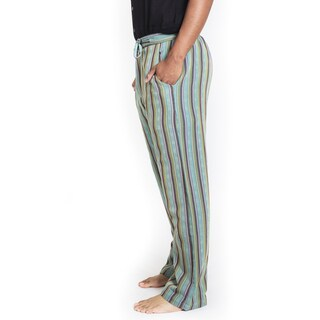 Hemp Blend Men's Funky Stripe Pants (Nepal)
