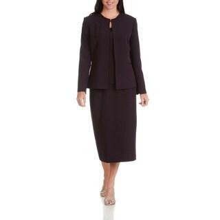 Giovanna Signature Women's Polyester 3-piece Skirt Suit