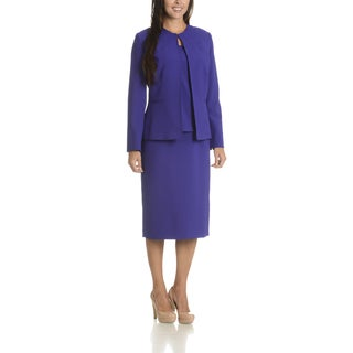 Giovanna Signature Women's Polyester 3-piece Skirt Suit