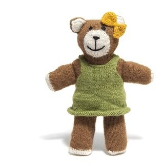 Alpaca Wool Hand-knit Teddy Bear (Peru)