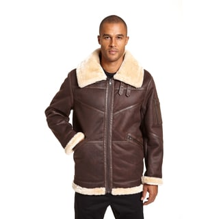 Excelled Men's Faux Shearling Jacket