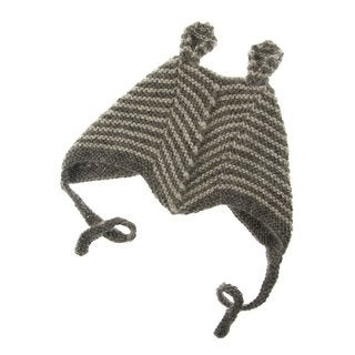 Handmade Knit Alpaca Dark Grey Baby Hat (Bolivia)