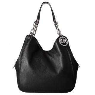 Michael Kors Fulton Large Black Shoulder Tote Bag