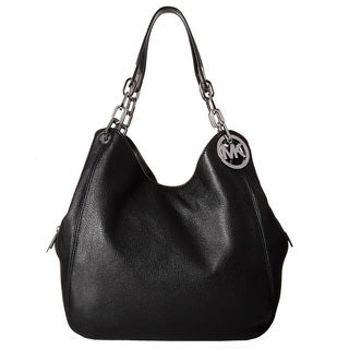 Michael Kors Fulton Large Black Shoulder Tote Bag