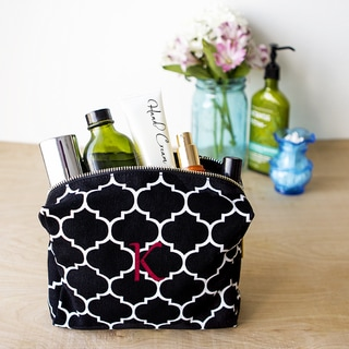 Link to Personalized Black Moroccan Lattice Cosmetic Bag Similar Items in Travel Accessories