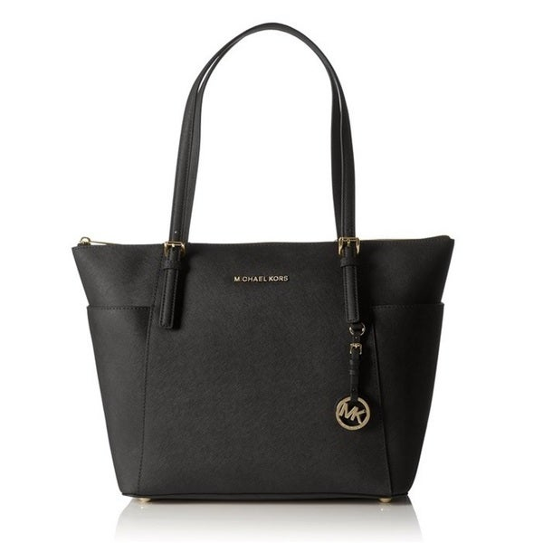 e4637eef4941 Shop Michael Kors Jet Set Large Top-Zip Saffiano Leather Tote Bag ...