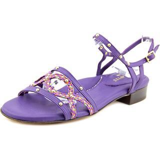 Eric Javits New York Women's 'Missy' Purple Leather Sandals