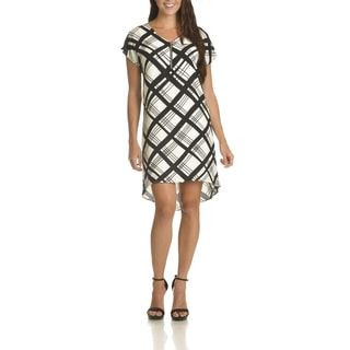 Danillo Boutique Women's Plaid High-low Dress