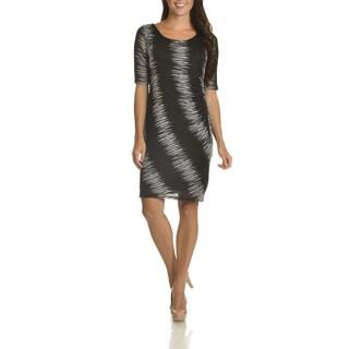 Danillo Boutique Women's Printed Mesh Dress