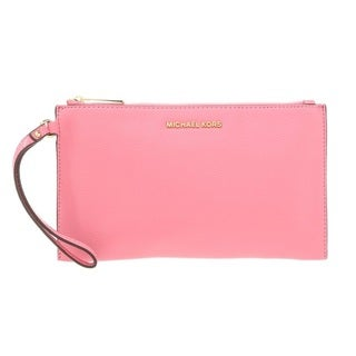 Michael Kors Bedford Large Zip Clutch - Misty Rose