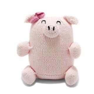 Cotton Handmade Chubby Piglet (Peru)