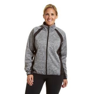 Champion Women's Plus-size Mock Neck Bonded Softshell Jacket|https://ak1.ostkcdn.com/images/products/12382181/P19205082.jpg?impolicy=medium