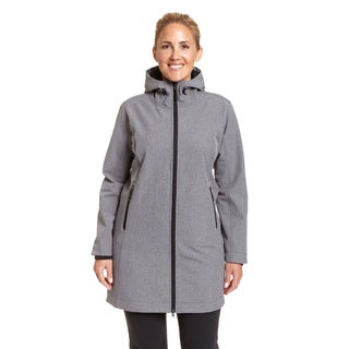 Champion Women's Polyester Plus-size Hooded 3/4 Softshell Jacket