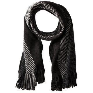 Hugo Boss Famino Black/Gray 100% Wool Scarf