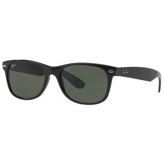 Ray-Ban RB2132 901 New Wayfarer Black Frame Green Classic 58mm Lens Sunglasses