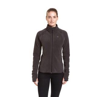 Champion Women's Textured Fleece with Active Knit Mock Turtleneck Jacket