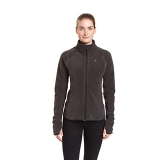 Champion Women's Textured Fleece with Active Knit Mock Turtleneck Jacket