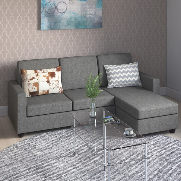 Porch & Den Rowley Grey Convertible Sectional