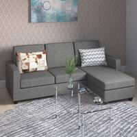 Porch & Den Tremont Rowley Grey Convertible Sectional