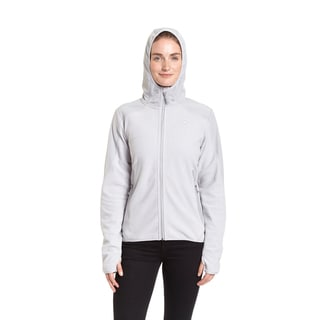 Champion Women's Textured Fleece Zip-front Stretch Hoodie