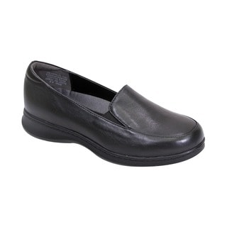Fic Peerage Olivia Women's Black/Brown Leather Wide-width Loafers