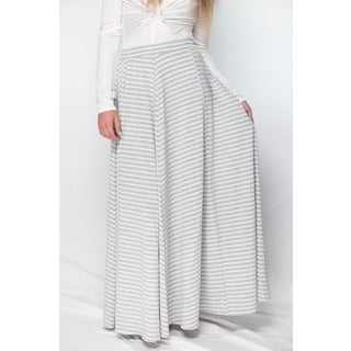 Hot Gal Women's Striped Maxi Skirt
