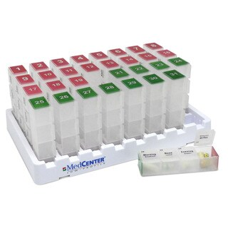 MedCenter Compact Low Profile Monthly Medication Organizer