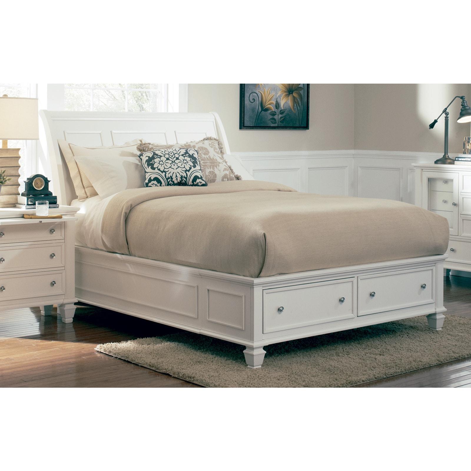 Coaster Furniture White Panel Bed (King)