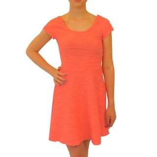 Hot Shot Wavy Skater Polyester Dress