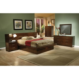 Link to Coaster Company Jessica Cappuccino Platform Bed Similar Items in Bedroom Furniture