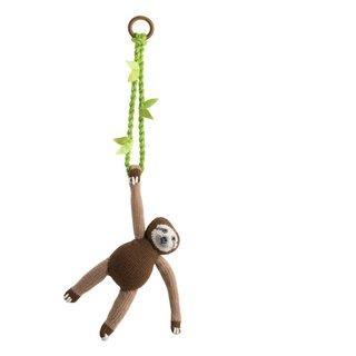 Handmade Cotton Swinging Sloth Mobile (Peru)