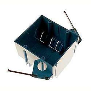 Carlon 3-3/4 in. H Rectangle 2 Gang Outlet Box Blue PVC