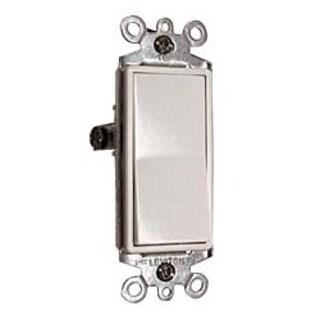 Leviton S12-05603-2WS White Residential Grade Decora 3-Way AC Quiet Switch Rocker
