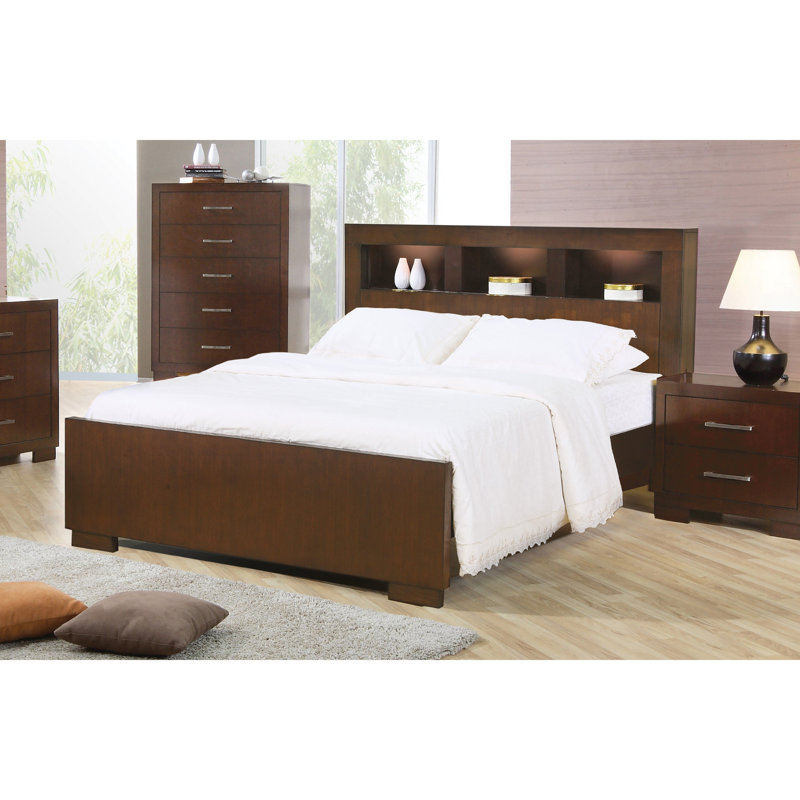 Coaster Furniture Jessica Collection Cappuccino Wood Bed ...