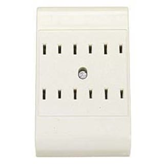 Leviton R52-49687-00W White Six Outlet Plug-In Outlet Adapter