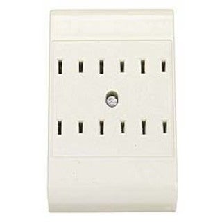 Leviton C21-49687-00I Ivory Six Outlet Plug-In Outlet Adapter