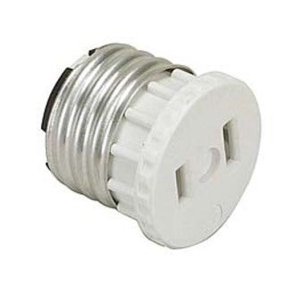 Leviton 002-125 White Adapter Socket To Outlet