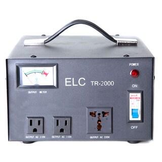 2000-watt Voltage Regulator with Transformer and Circuit Breaker Protection