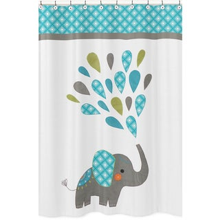 mod elephant shower curtain