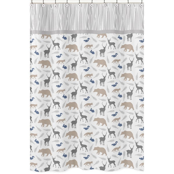 Shop Woodland Animals Shower Curtain