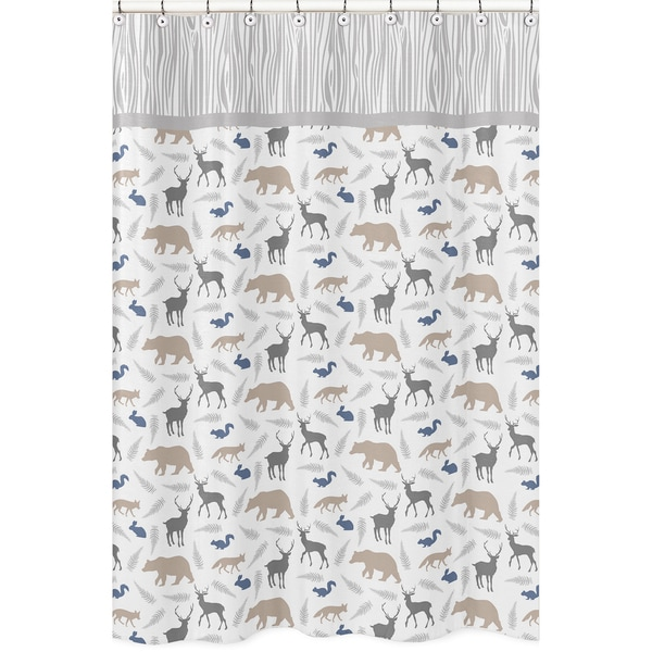 Woodland Animals Shower Curtain