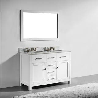 white vanity double sink. 48 inch White Finish Solid Wood Double Sink Bathroom Vanity with Soft  Closing Drawers Size Vanities Cabinets For Less