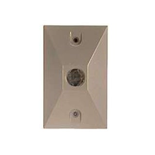 Bell Outdoor 5186-6 White Single Outlet Weatherproof Rectangular Lampholder Cove