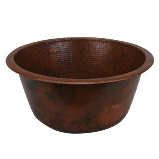 Unikwities Sierra Fired Copper Finish Round 17-gauge 18-inch 5 lb. 8 oz. Minweight Copper Sink