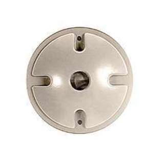 Bell Outdoor 5193-0 4-inch Grey Single Outlet Weatherproof Round Lampholder Covers