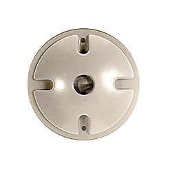 Bell Outdoor 5193-5 4-inch Grey Single Outlet Weatherproof Round Lampholder Covers