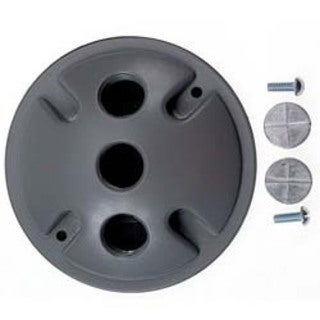Bell Outdoor 5197-0 4-inch Grey Triple Outlet Weatherproof Round Lampholder Covers