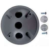 Bell Outdoor 5197-5 4-inch Grey Triple Outlet Weatherproof Round Lampholder Covers