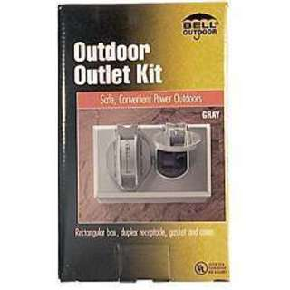 Bell Outdoor 5839-5 Grey Single-Gang Weatherproof Cover Device Kit