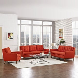 Beguile Living Room Set Fabric Set of 3